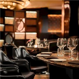 High fashion private jet inspired bar